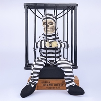 This Prison Uncloses Me Halloween Tricky Toys Prison Ghosts Coop Skull Cage Skeleton Horrible Electric Toys