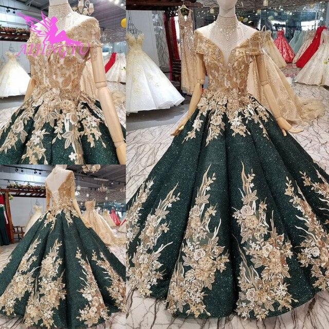 AIJINGYU Wedding Dress Hai Trong Một Giá Rẻ Gown Sequin Sang Trọng Ren Cô Dâu Nước Đức Gowns Phi Truyền Thống Wedding Dresses