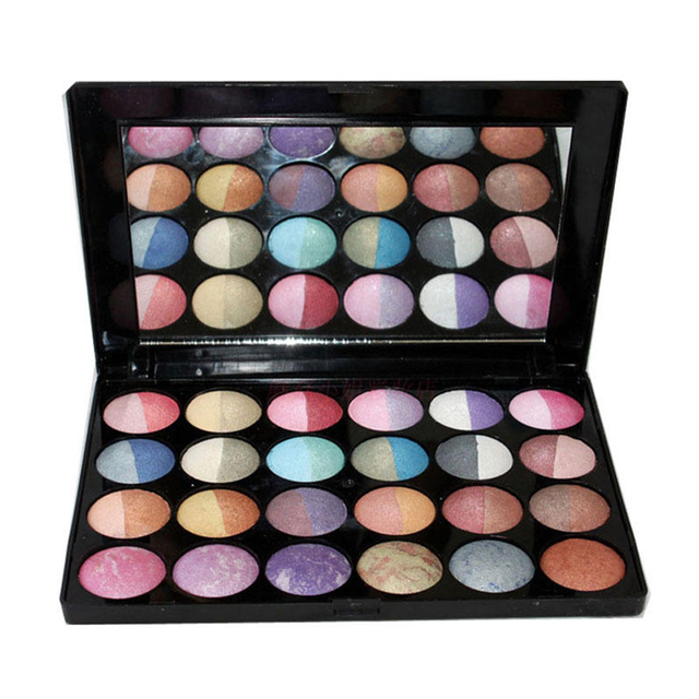 24 Color Eyeshadow Make Up Palette Shimmer Matte Baked Eyeshadow Blush Mineral Cosmetic Makeup Set Palette