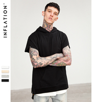 INF Men Tshirt Summer 2017 Oversize Tie Dye Streetwear Hip Hop Tees Men Cotton Simple Top