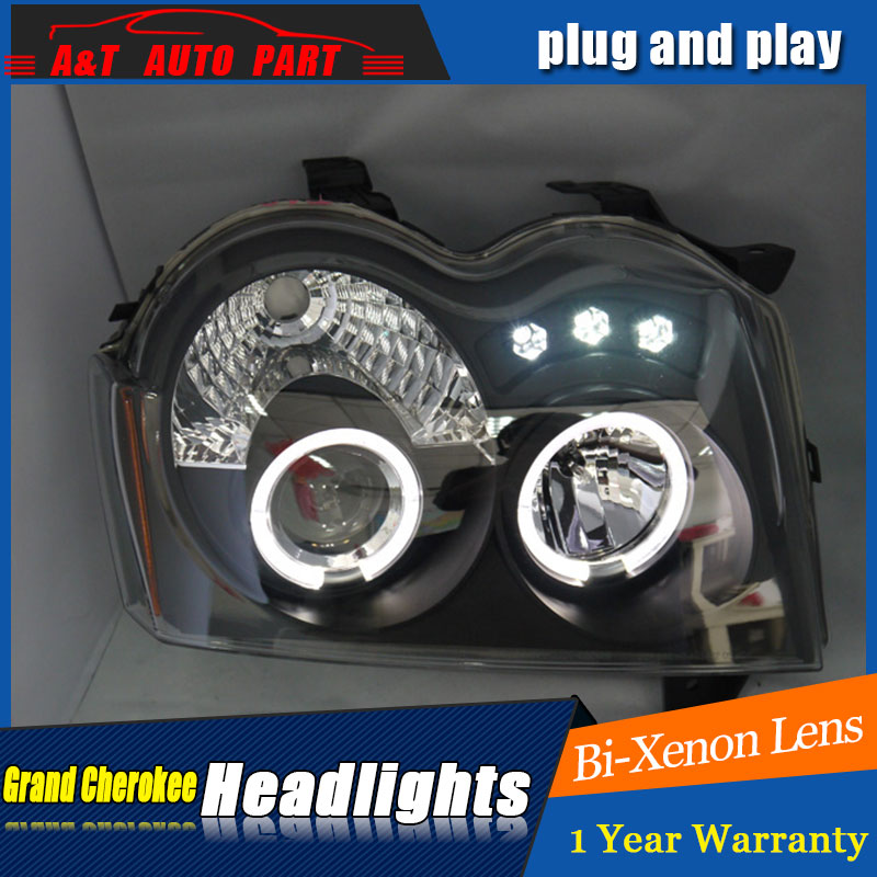Auto Lighting Style LED Head Lamp for Grand Cherokee headlights for Grand Chero angle eyes drl H7 hid  Bi-Xenon Lens low beam auto part style led head lamp for benz w163 ml320 ml280 ml350 ml430 2002 2005 led headlights drl hid bi xenon lens low beam