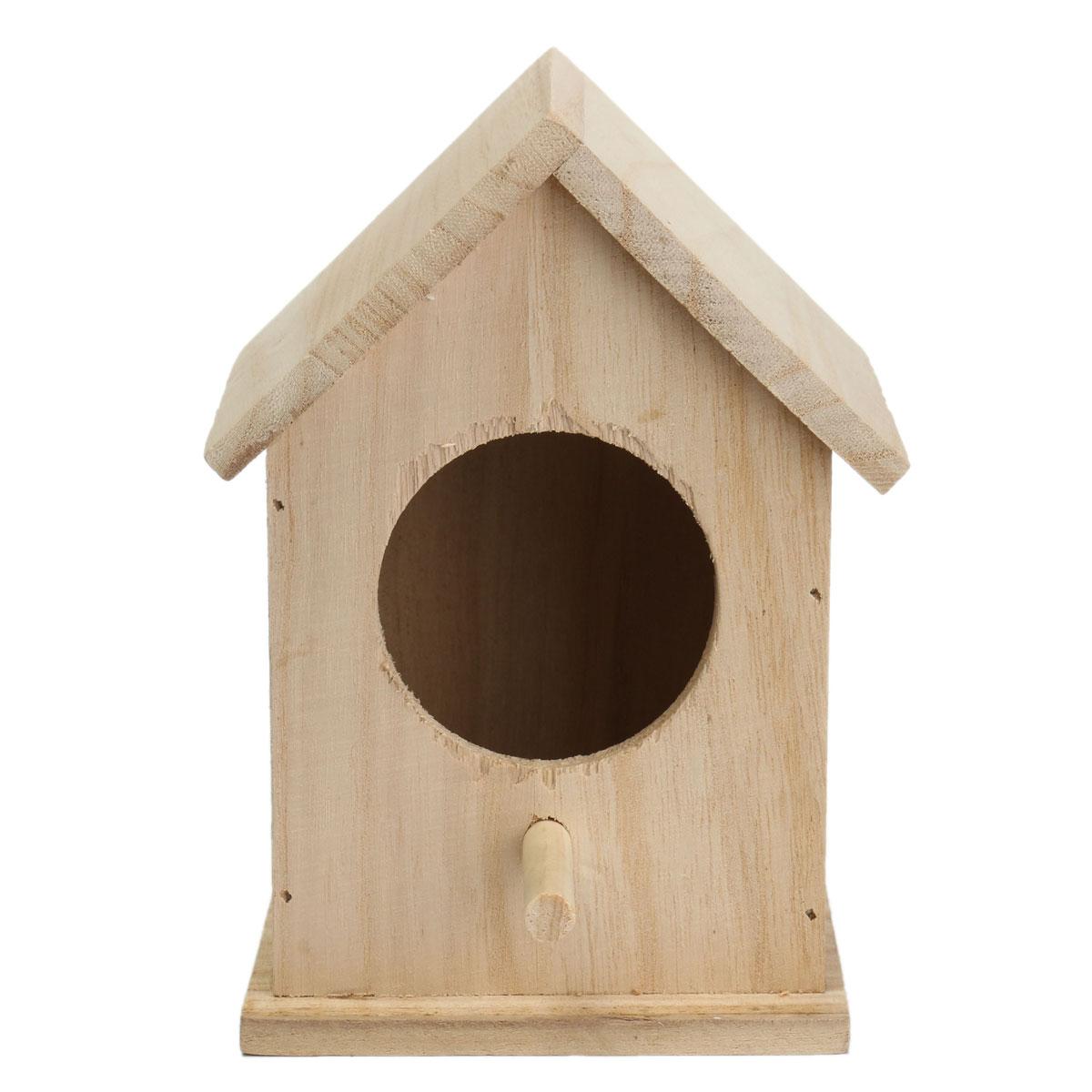 5 85 45 De Reduction Bois Oiseaux Nichoir Nouveau Bricolage Elevage Perroquet Cockatiels Hirondelles Nid Exterieur Toit En Bois Oiseau Maison