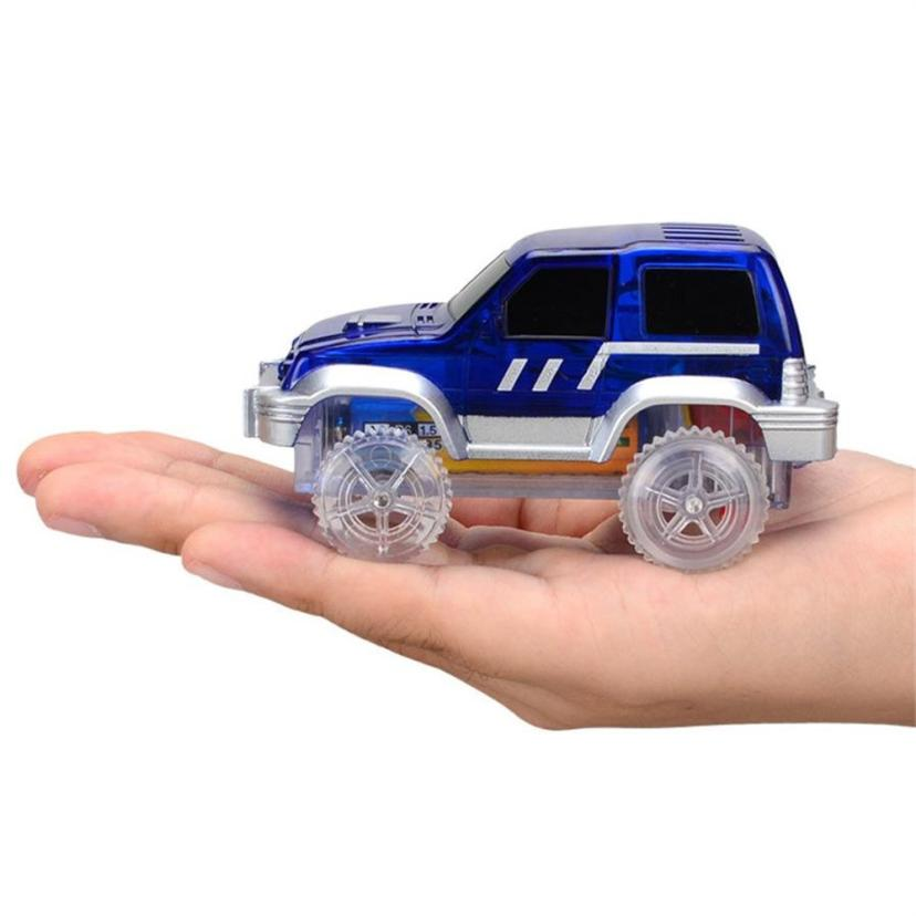 2pc Kids Baby Musical Electric Racing Car Toy LED Flashing Automatic Car Toys Gift D50