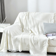 Modern Solid White Tassel Throw Blanket Jacquard Knitted Soft Sofa Blankets Cotton Blanket On Travel/Plane Home Textile Cobertor modern solid white tassel throw blanket jacquard knitted soft sofa blankets cotton blanket on travel plane home textile cobertor