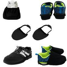 Perfeclan Премиум Черная эластичная ткань спортивные туфли для боулинга слайдер крышка Замена аксессуары для боулинг, спорт