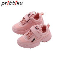 2018 Spring Toddler Girl White Brand Sneakers Little Boy Casual Running School Trainer Big Kid PU Leather Children Black Shoes
