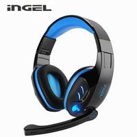 INGEL Surround Ses Kanal USB Gaming Headset Kablolu Bilgisayar Mikrofon Ses Kontrolü ile Kulaklık Kulaklık Gürültü Iptal
