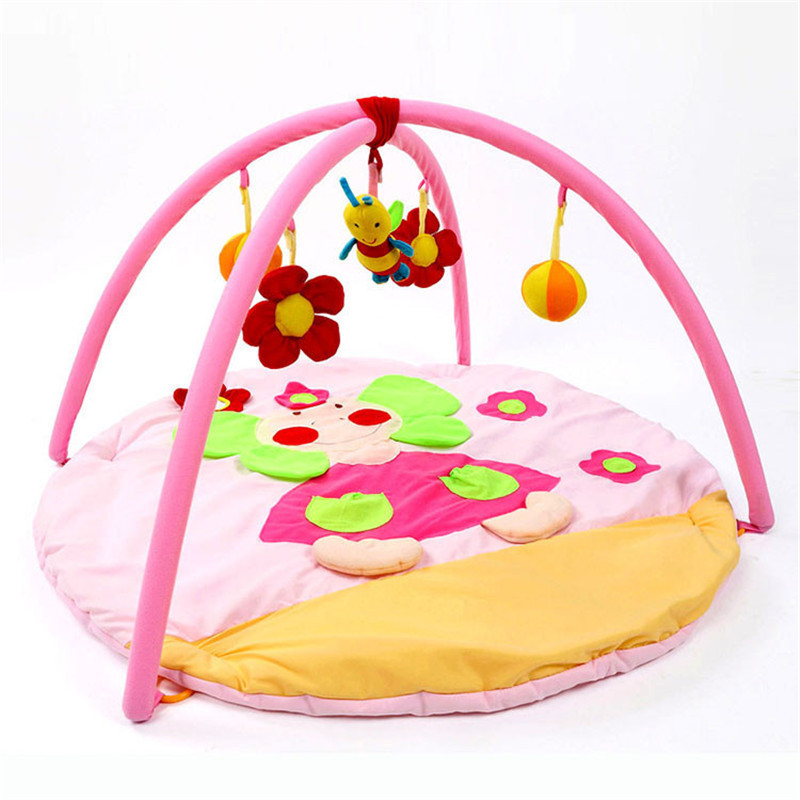 Pink Elephant Baby Toy Play Mat 0-1 Year Tapete Infant Educational Crawling Mat Game Play Gym Blanket Kids Carpet Baby Gift