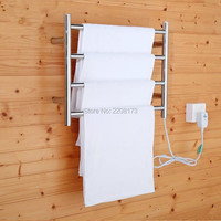 New Concept Of Bathroom Accessories Electric Heated Towel Warmer Drying Rack 4 Bar Hanger Wall Mount