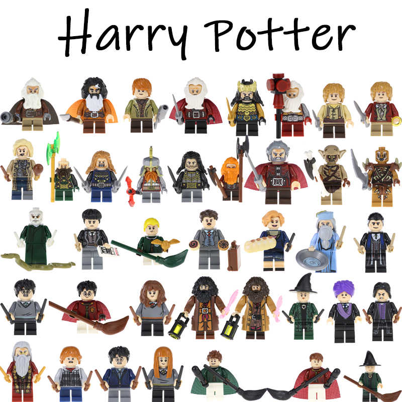 Harri potter Beasts Rubeus Dobby Hagrid Seamus Finnigan Hermione Building Blocks Action Figures Gift Toys For Children Model