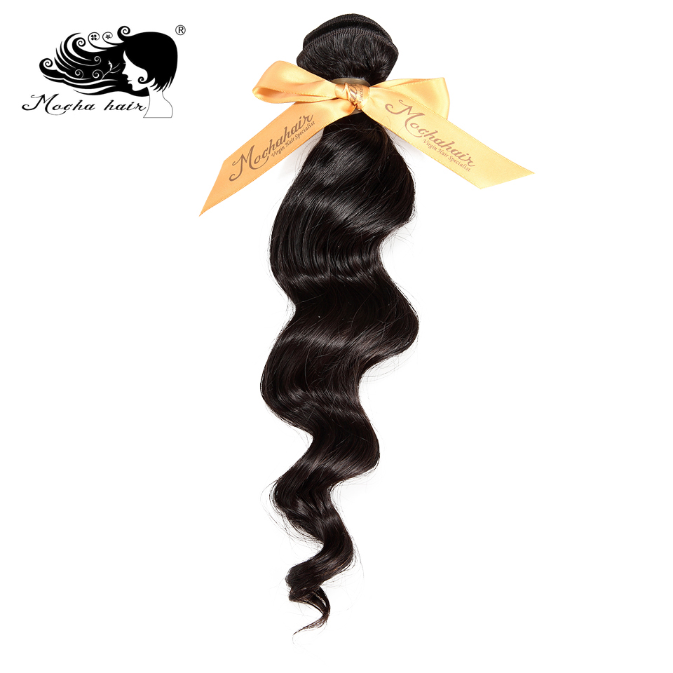 Brazilian Hair Weave Bundles Loose Wave Human Hair Weaving Extensions Mocha Hair Products 1 Pcs Natural