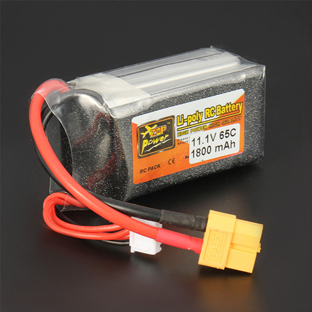 1pcs Rechargeable Lipo Battery ZOP Power 11.1V 1800mAh 65C 3S Lipo Battery XT60 Plug For RC Model светодиод cree xlamp xml xml t6 10w 20 platine xm l t6 page 3