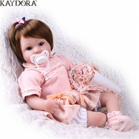 KAYDORA 16 inch 40cm Silicon Reborn Babies Full Body Princess Doll Toys For Girls Children Lifelike Toddler Bebe Reborn