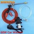 Elétrica 60 Watts Intellighent de alta pressão da lavagem do carro 12 V usado lavagem de carro portátil vapor carro arruela com Metal pistola de água
