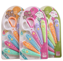 1 Set 6 Kinds of Heads Children Lace Scissors Safety Hand Scissors Office Stationery Escolar Papelaria