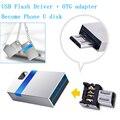 De alta velocidad Mini USB 3.0 Flash Drive 32 GB 16 GB Memory Stick Impermeable de Metal Pequeño Pen Drive USB 8 GB de Disco U Disco + adaptador OTG