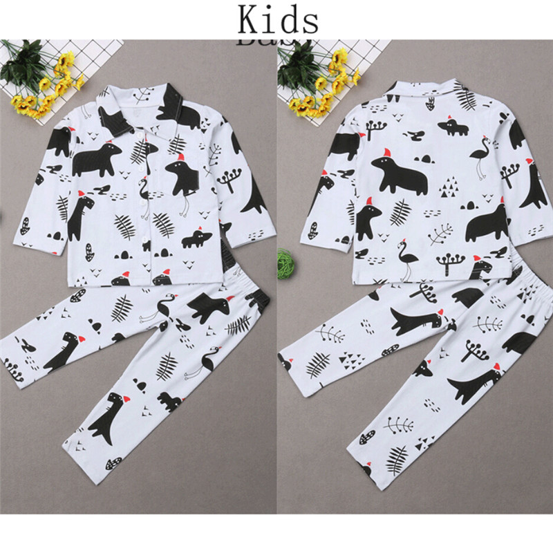 c67a12facd Christmas Family Matching Pajamas Set 2019 Newest Cute Dinosaur Animal  Printed Adult Women Kids Baby Long Sleeve Xmas Sle-in Matching Family  Outfits from ...