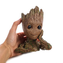12cm Tree Man Baby Action Figure Doll Penholder Guardians of The Galaxy 2 Model Pen Pot And Flower ot Toy(China)