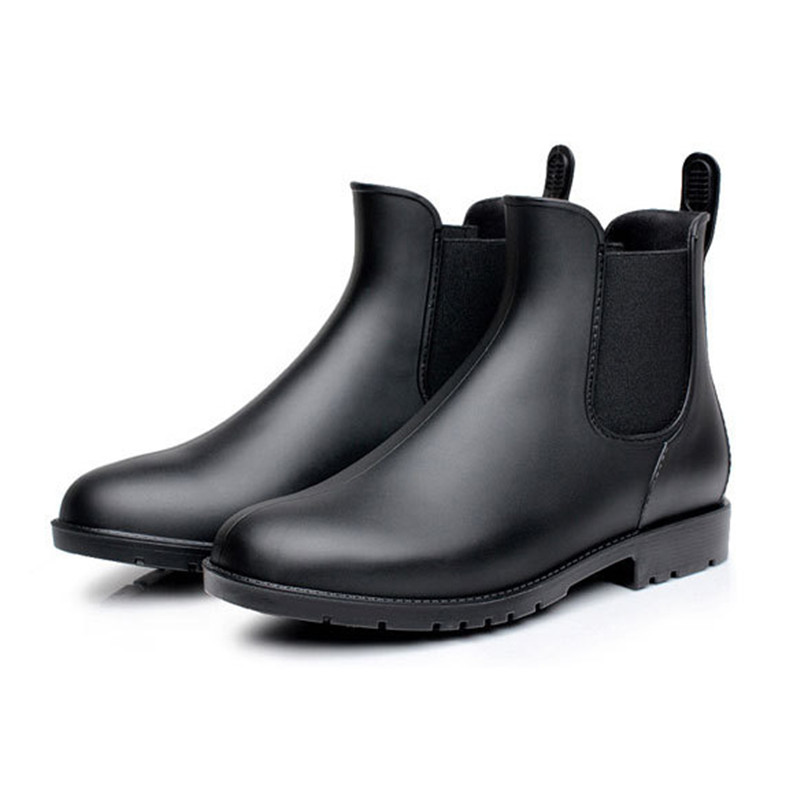 New Autumn Rain Boots Chelsea Boots Women Shoes Waterproof Rubber Shoes Ankle Boots Woman Fashion Solid Anti-Skid Laarzen Dames цена