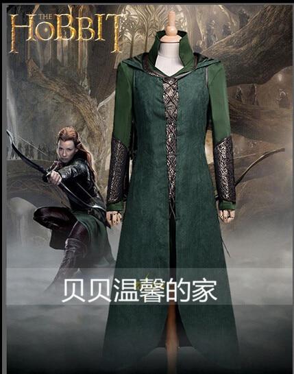 Fri frakt Anpassad film Cosplay kostym Hobbit Förstörelse av Smaug Tauriel Cosplay Kostym