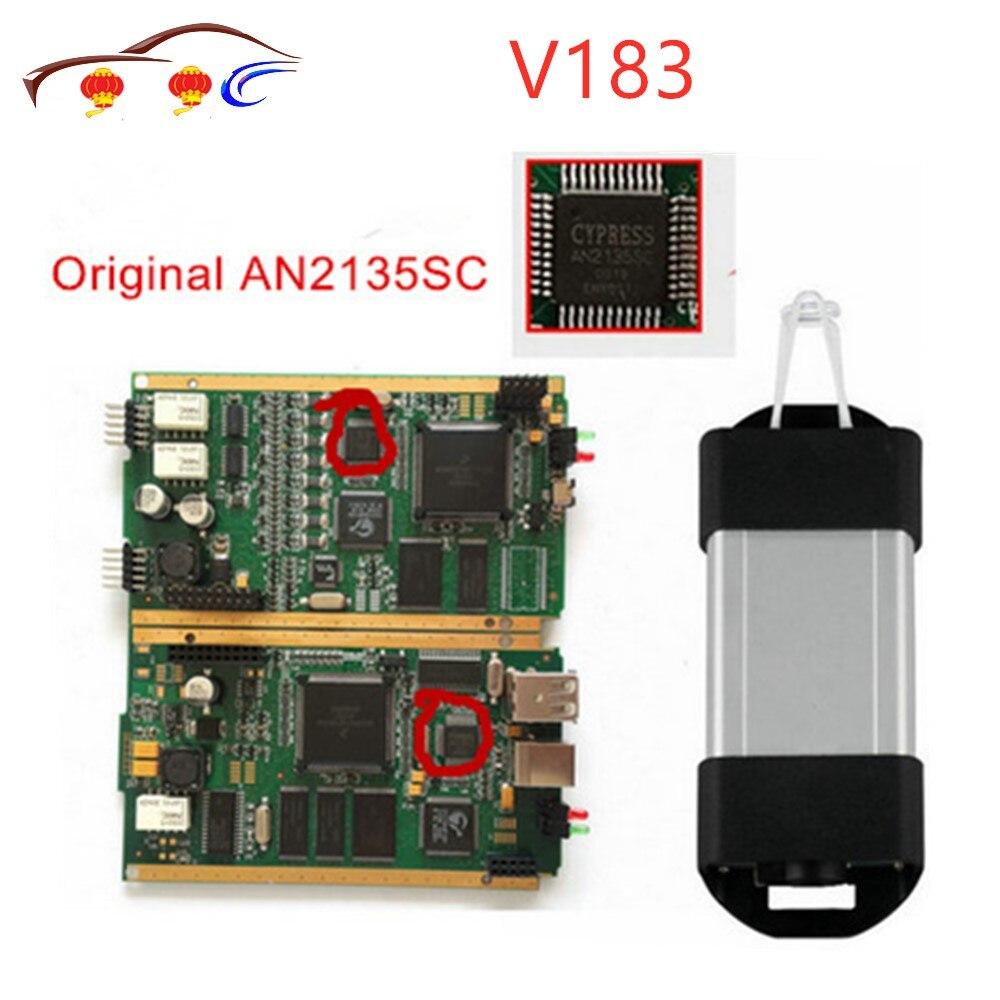 Best Qualità V183 PUÒ Fermare per Renault Interfaccia Diagnostica con Originale Pieno di Chip AN2135SC AN2136SC Multi-Lingue