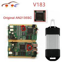 Clipe de lata v190 para renault original, interface de diagnóstico com chip completo an2131qc multilinguagem