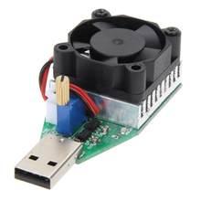 Resistencia de carga electrónica de grado Industrial RD 15W, interfaz USB, medidor de capacidad de batería de descarga con ventilador, corriente ajustable