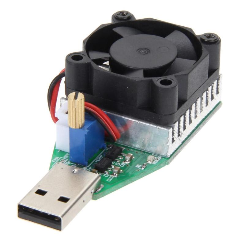RD 15W Industrial Grade Electronic Load Resistor USB Interface Discharge Battery Capacity Test Meter with Fan Adjustable Current