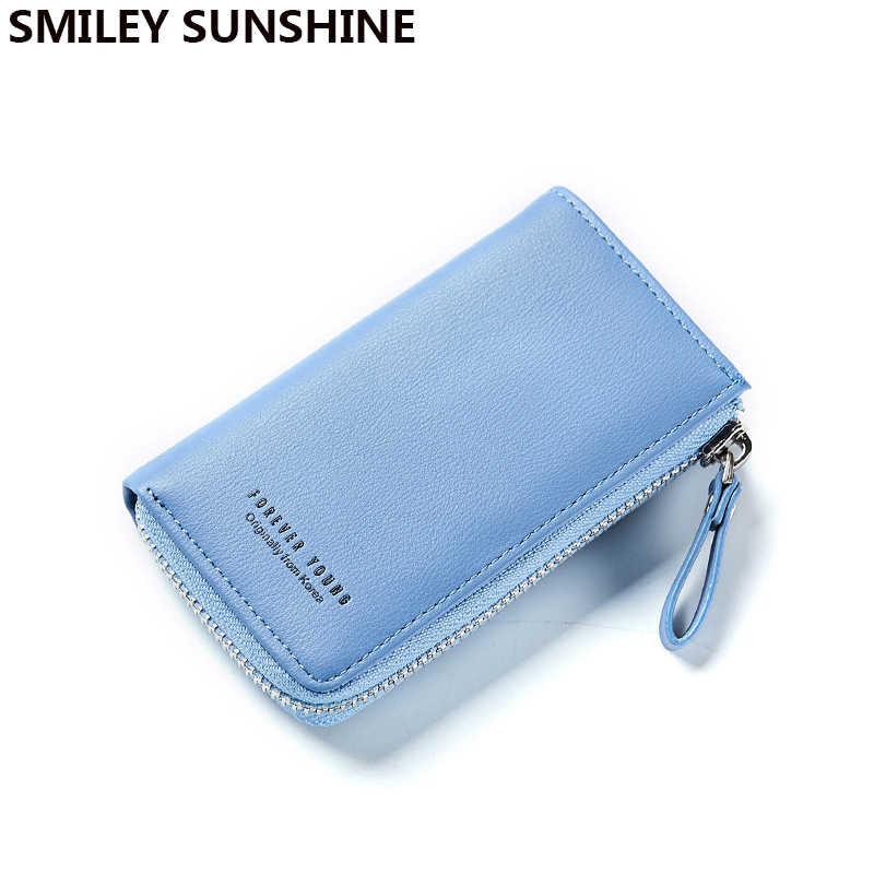 b0fee3b1598e Смайлик солнце ярких цветов большие женские портмоне и держатели ключевой  бумажник Корейский кошелек небольшие деньги Монета