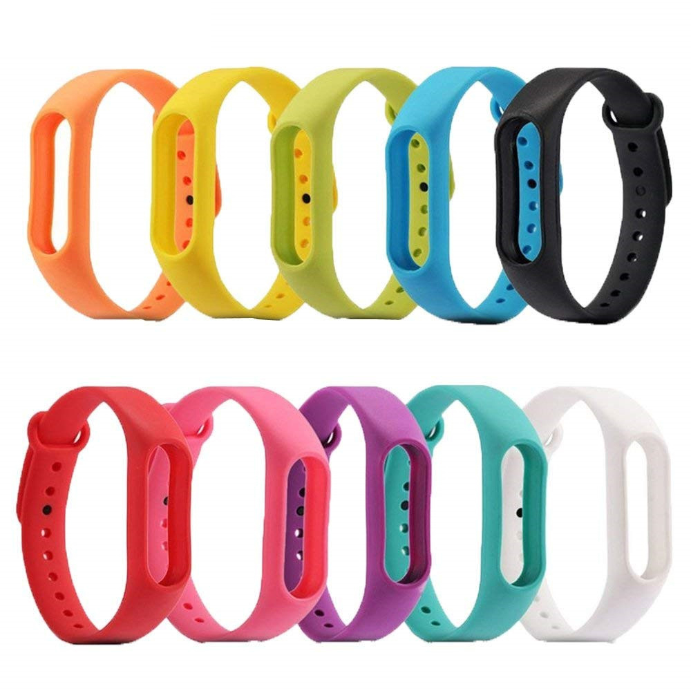 Silicone Wrist Bracelet For Xiaomi Mi Band 2 Strap Wristband Mi Band2 Sport Wrist Watch Band Smart Bracelet Replacement Belt