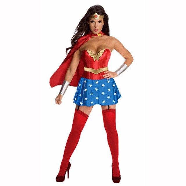 2018 New Super Girl Ladies Wonder Woman Costume Fancy Dress Women Halloween customes blue women supergirl  sc 1 st  AliExpress.com & 2018 New Super Girl Ladies Wonder Woman Costume Fancy Dress Women ...