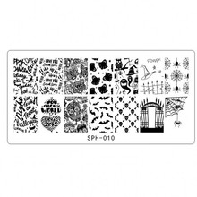 NEW Halloween & Christmas Holiday Nail Plate,Nail Stamp Image Template Print Art 8 Designs