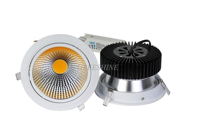 40W High CRI 95 130LM/W Dali Triac Dimmable 110V 240V COB LED Recessed Ceiling Light Warm-Cool-Natural White 8pcs/lot подвесной светильник la lampada 130 l 130 8 40