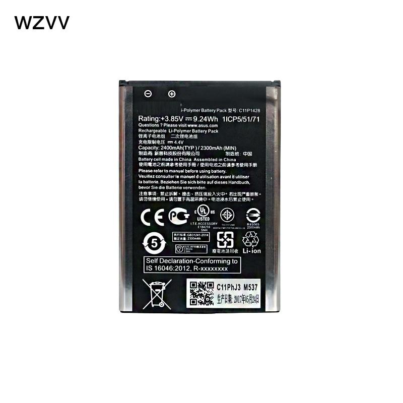 wzvv New 2400mAh C11P1428 Battery for Asus Zenfone 2 Zenfone2 Laser ZE500KL ZE500KG phone battery