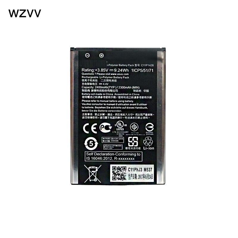 wzvv New 2400mAh C11P1428 Battery for Asus Zenfone 2 Zenfone2 Laser ZE500KL ZE500KG Zenfone 2 Laser 5 Z00ED + Tracking Code