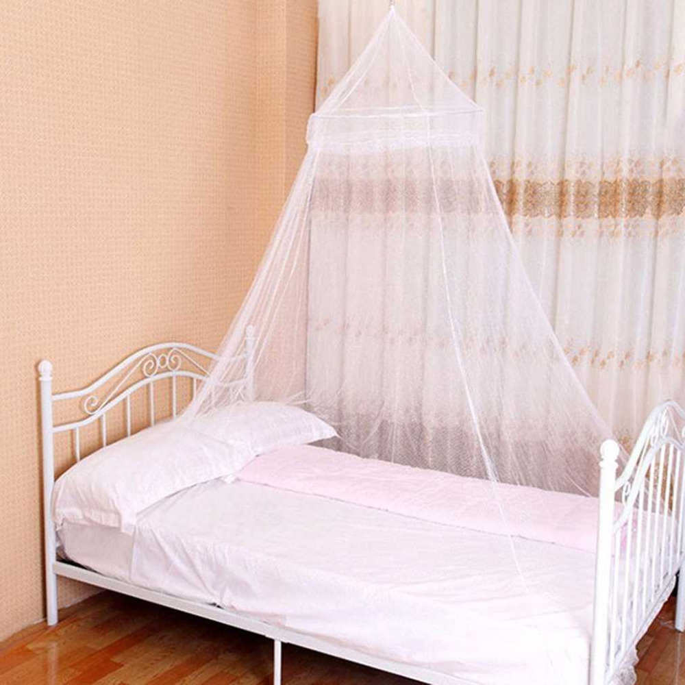 Universal Polyester Mosquito Net Elegant Round Lace Insect Bed Canopy Netting Curtains Dome Bedding Net Home Furniture