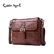 Cobbler Legend High Quality Fashion Brand Women's Handbags Shoulder Genuine Leather Bags For Women Messenger Bag Brown #605113-1