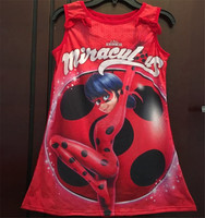 2018 Girl Clothes New Miraculous Ladybug Sleepwear Robe Nightgowns Princess Party Fashion Dress 6 14 Years