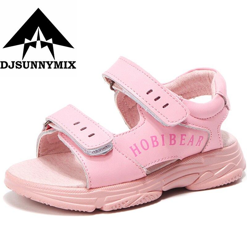 DJSUNNYMIX Kids Beach Sandals Girls Princess Summer Shoes Children New Flower Anti-Slipper Sandals GU3591