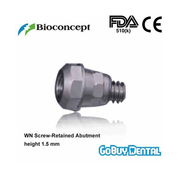 все цены на Straumann Compatible WN 1.5 Screw-Retained Abutment , height 1.5mm(Wide Neck) онлайн