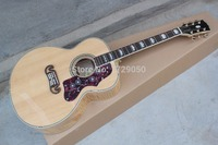 High Quality Classical 43 J200 Nature Color Acoustic Guitar Solid Spruce Top Flamed Maple Back And