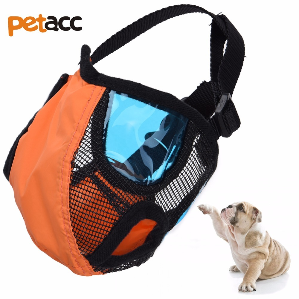Petacc High quality Adjustable Short Snout Dog Muzzle Anti-biting Pet Mask with Breathable Mesh Dog Mouth Cover Anti Chewing