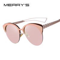 MERRY S Fashion Oversized Frame Cat Eye Women Sunglasses Brand Designer Classic Sun Glasses Shades Female