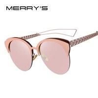 MERRY S Fashion Oversized Frame Cat Eye Women Sunglasses Brand Designer Classic Sun Glasses Shades Female