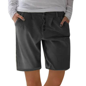 WOMAIL Black Shorts Pockets Linen Cool Cotton Fashion Casual And Solid Z30604 New-Product