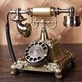Europeo Moda Vintage Dial Giratorio Placa Giratoria Teléfono Teléfono Antiguo Teléfono de Línea Fija de Teléfono Para Ministerio del interior del Hotel
