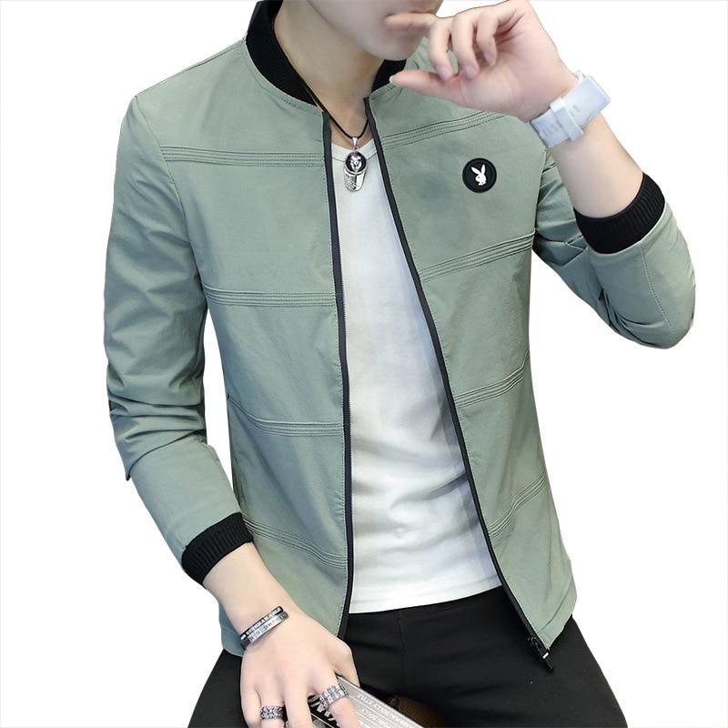 Men 'S Casual Premium Varsity Baseball Jacket College Style Letterman Sweater Coat Male Jacket 2019 Spring New Style Korean-Styl 17