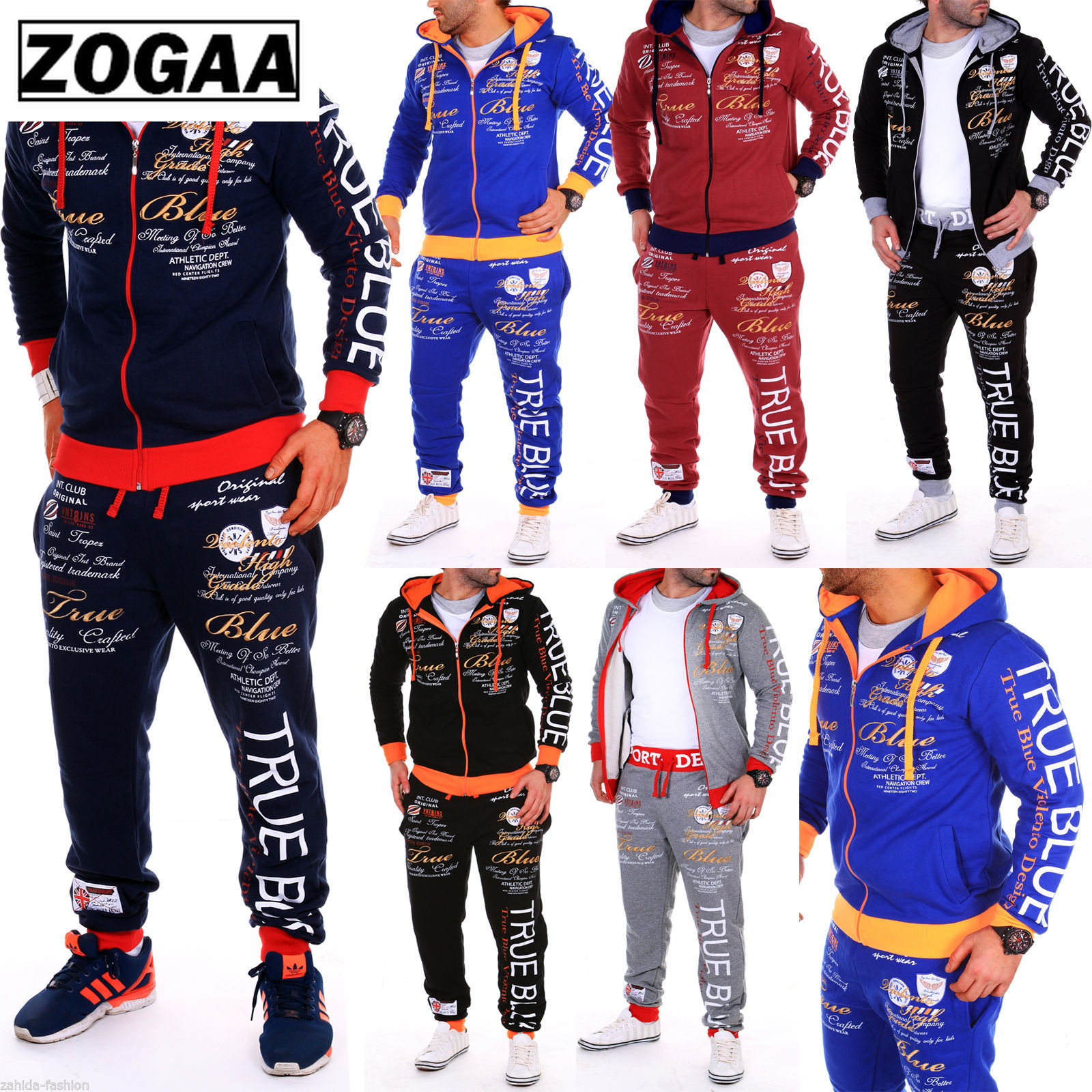 ZOGAA New Multicolor Men's Sports Suit Casual Comfort Sports Suit Men's Sports Jacket Ropa Hombre 2019 Sweat Suits Men Zipper
