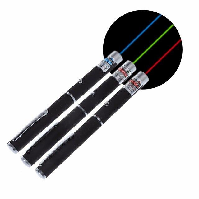 OOTDTY 5mw Powerful Laser Pointer Pen Beam Light 500-1000 Meter Presenter Remote Pointer 3 Colors Laser Verde Wave Length 405nm