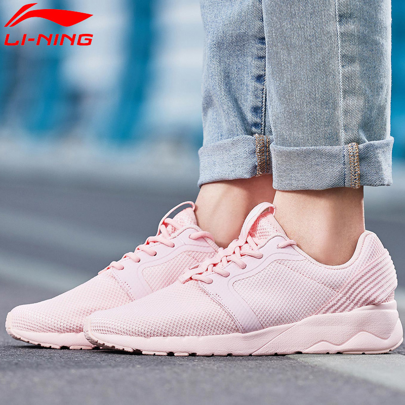 Li-Ning Women LN HEATHER II Lifestyle Shoes Light Breathable Sneakers Comfort Fitness LiNing Li Ning Sport Shoes AGCN098 YXB142